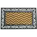 Rubber-Cal 18 x 30-inch Waves Coir/Rubber Designer Door Mat