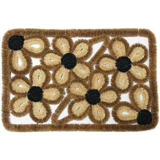 Rubber-Cal 16 x 24-inch Wild Flowers Coco Entry Mat