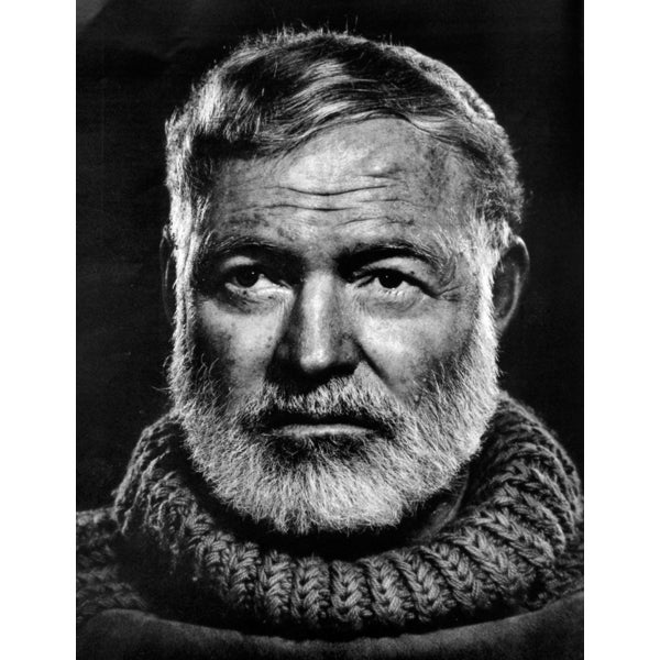 'Portrait of Ernest Hemingway, Wisdom Magazine, June 1958' Canvas Print Wall Art