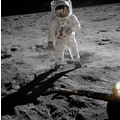'Astronaut Buzz Aldrin Apollo 11 Moonwalk, July 20th,1969, (Original)' Photography Canvas Print Wall Art