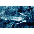 'Female Nude in Shallow Ocean Pool' Photography Canvas Art