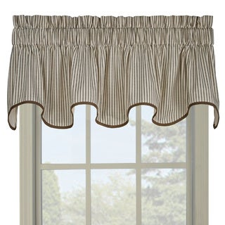 Ticking Green Stripe Wave Valance