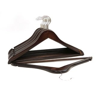 Dark Mahogany Wood Suit Hangers (Case of 96)