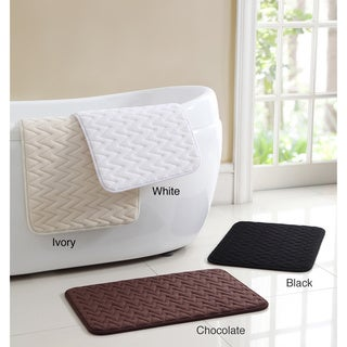 Zigzag Memory Foam 17 x 24 Bath Mat (Set of 2)