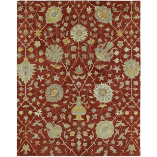 Christopher Kashan Hand-tufted Red Rug (5' x 7'9)