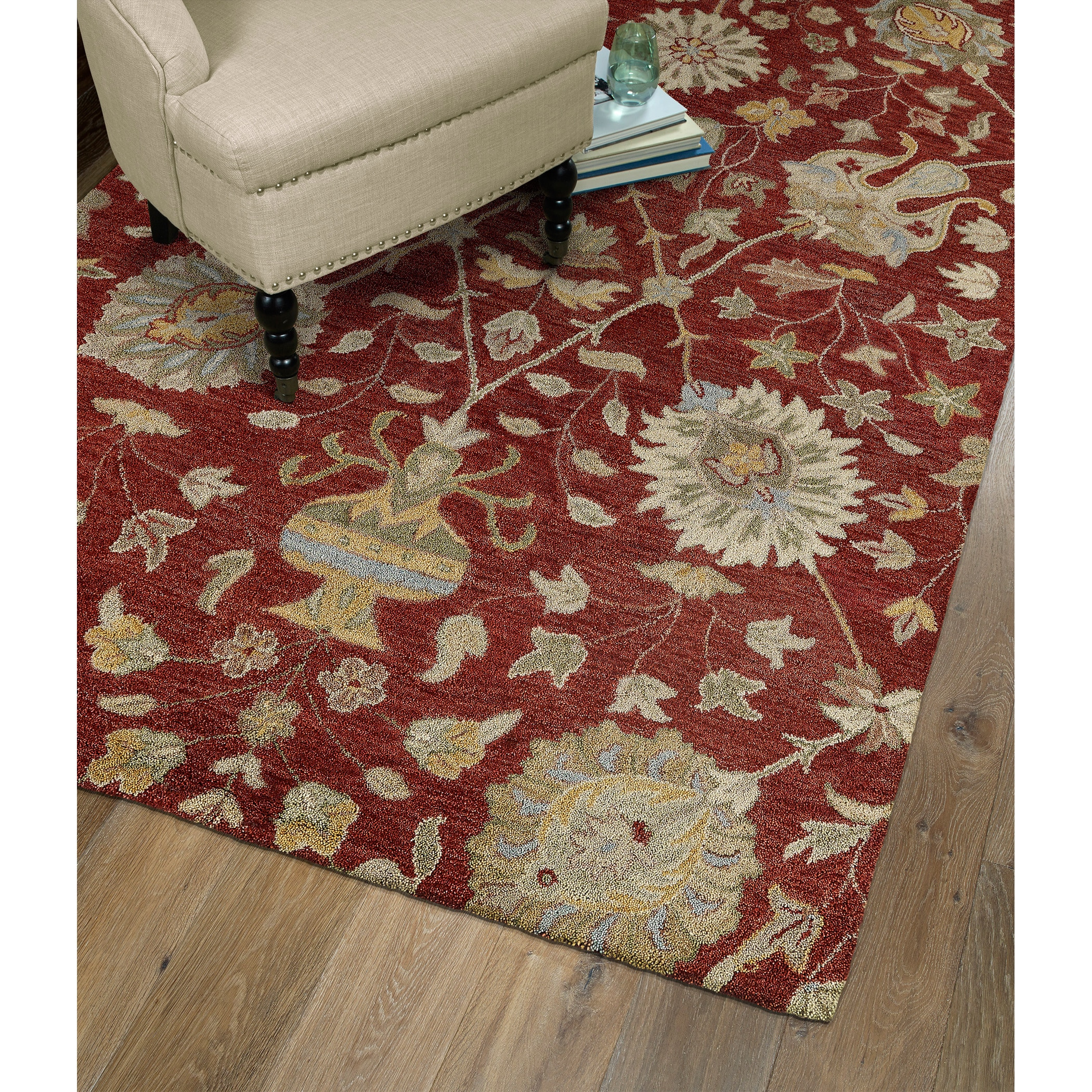 Christopher Kashan Hand-tufted Red Rug (9' x 12') at Sears.com