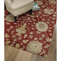 Christopher Kashan Hand-tufted Red Rug (9' x 12')
