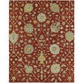 Christopher Kashan Hand-tufted Red Rug (8' x 10')