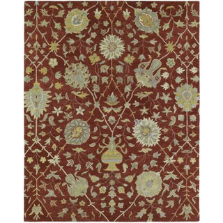 Christopher Kashan Hand-tufted Red Rug (4' x 6')