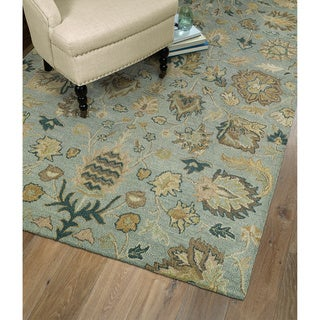 Christopher Kashan Hand-tufted Light Blue Rug (9' x 12')