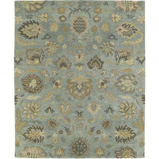Christopher Kashan Hand-tufted Light Blue Rug (5' x 7'9)