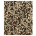 Christopher Kashan Hand-tufted Chocolate Paisley Rug (2' x 3')
