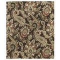 Christopher Kashan Hand-tufted Chocolate Paisley Rug (8' x 10')