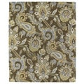 Christopher Kashan Hand-tufted Light Brown Paisley Rug (2' x 3')