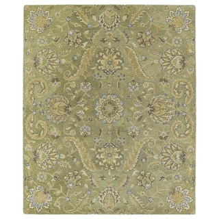 Christopher Kashan Hand-tufted Green Rug (5' x 7'9)