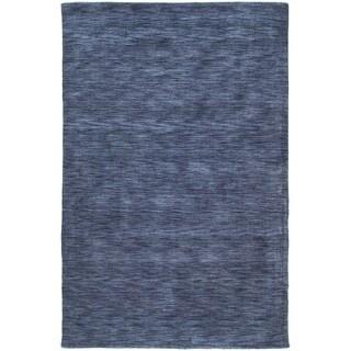 Gabbeh Hand-tufted Blue Rug (5' x 7'6)