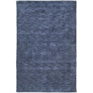 Gabbeh Hand-tufted Blue Rug (7'6 x 9')