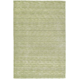 Gabbeh Hand-tufted Green Rug (5' x 7'6)