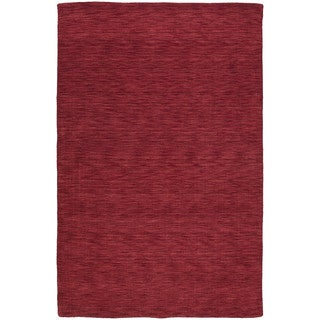 Gabbeh Hand-tufted Red Rug (5' x 7'6)