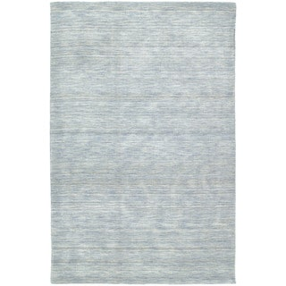 Gabbeh Hand-tufted Light Blue Rug (5' x 7'6)