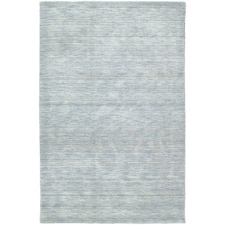 Gabbeh Hand-tufted Light Blue Rug (9'6 x 13')