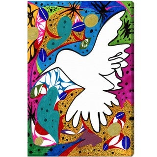 Oliver Gal 'Hummingbird of Peace' Canvas Art