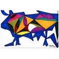Oliver Gal 'Bull Sunrise' Canvas Art