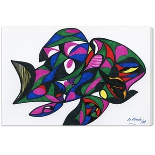Oliver Gal 'Colorful Goldfish' Canvas Art