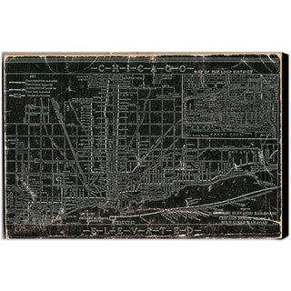 Oliver Gal 'Chicago Railroad' Canvas Art