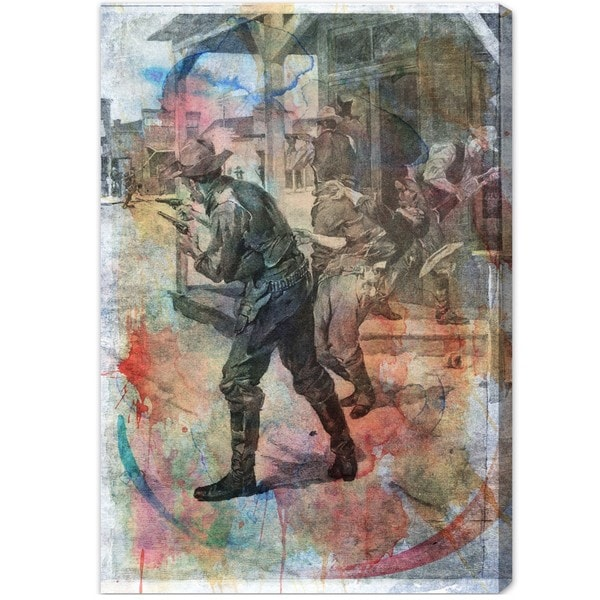 Oliver Gal 'Coffeyville Bank Robbery' Canvas Art