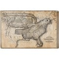 Oliver Gal 'The Eagle Map of the US 1833' Canvas Art