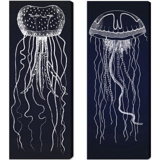 Oliver Gal 'Travelling Jellyfish' Canvas Art (2 Panels)