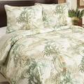 Tommy Bahama Rainforest Tropical Blue Cotton 3-piece Quilt Set