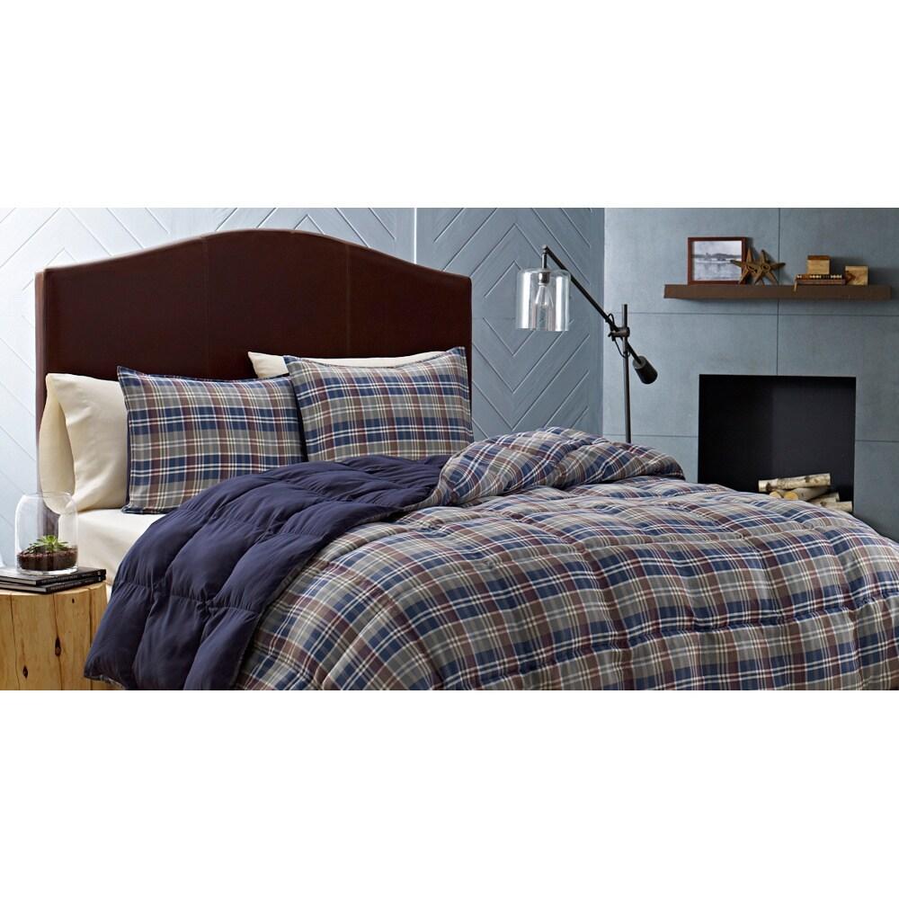 eddie bauer nordic plaid alternative comforter set