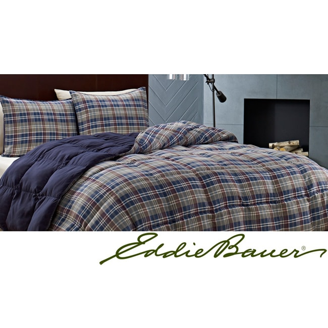 Eddie Bauer Rugged Plaid Down Alternative 3-piece Comforter Set