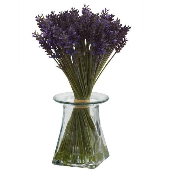 Nearly Natural Lavender Bundle Vase Decorative Plant