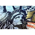 'Statue of Liberty Mural' Photography Canvas Print Wall Art