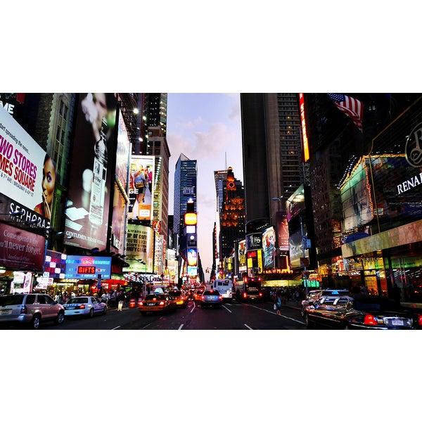 'Times Square, New York City, USA' Photography Canvas Print Wall Art