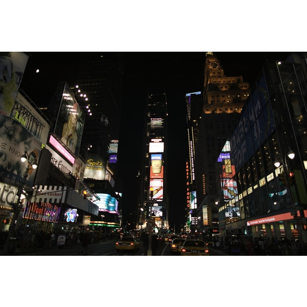 'Times Square at night, New York' Photography Canvas Print Wall Art
