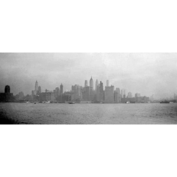 'Vintage Image of New York City Skyline from River' Photography Canvas Print Wall Art