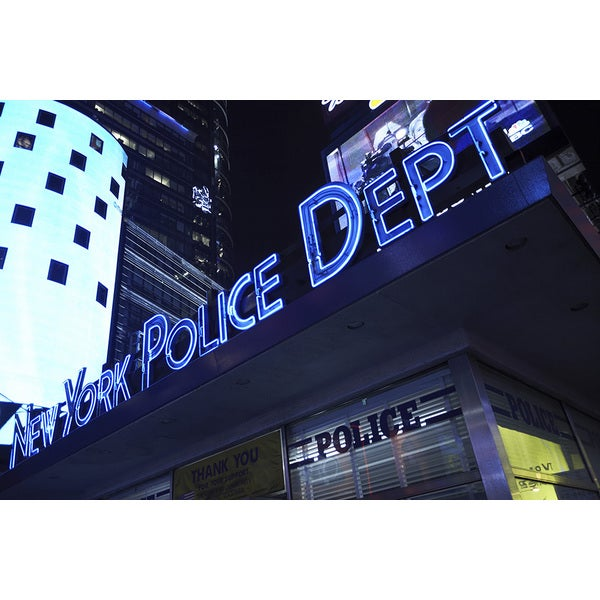 'New York Police Department' Photography Canvas Print Wall Art