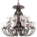 Matrix 18-light Brushed Copper Chandelier