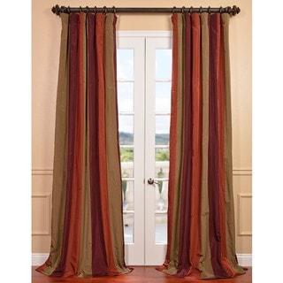 Roxbury Faux Silk Taffeta Stripe Curtain
