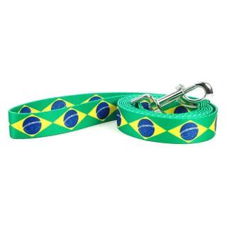 PatriaPet Brazilian Flag Dog Leash