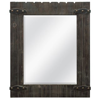 Barnwood Mirror with Metal Hardware