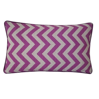 Jiti 100-percent Cotton 20 x 20-inch Purple Zig Zag Down Pillow
