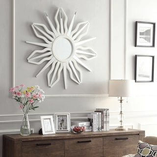 INSPIRE Q Octavia Antiquity Sunburst Accent Wall Mirror