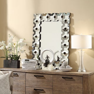 Inspire Q Nihoa Rectangular Metal Cutout Accent Wall Mirror