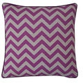Jiti 20-inch Purple Zig Zag Pouf Pillow