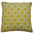 Jiti Yellow 20 x 20-inch Links Decorative Pillow